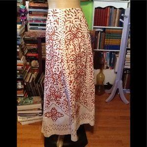 Vintage Look Maxi Skirt Boho Hippy